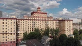 administrativo : Top view of old houses in center in Moscow, Russia. Stock Footage