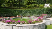 flowerbeds : Fountain in the territory of Palace of a Princes Yusupov Palace in Koreiz, Crimea