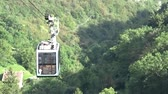 ferry crossing : Funicular over the forest Stock Footage