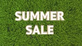 offers : Summer sale Stock Footage