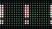bright night lights : Moving lights on a panel showing the ! Exclamation sign. Loopable