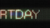 color : Moving lights on a panel showing the words HAPPY BIRTHDAY. Loopable Stock Footage