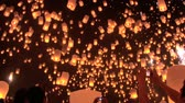 yee : Hundreds of rice paper hot air balloons are launched during the Loi Krathong festival in Chiang Mai