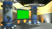 studio : Virtual set, with green screen.