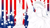 彫像 : United States Statue Liberty design background.