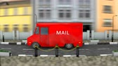 parcels : Delivery service vehicle Stock Footage