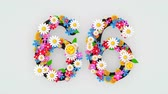 idade : Numerical digit floral animation, 66.
