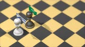 invasione : Chess Pawn with country flag, Israel, Saudi Arabia.