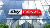 şirket : April 2019, Editorial Sky News logo on glass building.