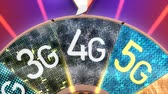 broadband : 5G, 5th generation cellular mobile communication technology Stock Footage