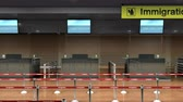dokumentum : Airport Immigration counter, 3d animation.
