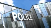 tresor : Police building blue sky timelapse. Videos