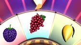 roleta : Children video animation, Wheel of fruit Strawberry Stock Footage