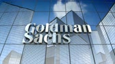 fon : September 2017, Editorial use only, 3D animation, The Goldman Sachs Group Inc. logo on glass building.