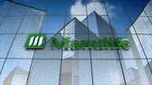 bankalar : December 2017, Editorial use only, 3D animation, Manulife Financial Corporation logo on glass building.