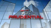 şirket : December 2017, Editorial use only, 3D animation, Prudential Financial, Inc. logo on glass building.