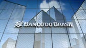 bankügylet : December 2017, Editorial use only, 3D animation, Banco do Brasil S.A. logo on glass building.
