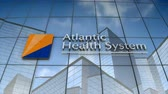 September 2017, Editorial use only, 3D animation, Atlantic Health System logo on glass building. 무비클립