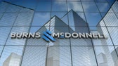 September 2017, Editorial use only, 3D animation, Burns & McDonnell logo on glass building.