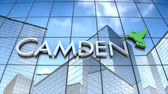 September 2017, Editorial use only, 3D animation, Camden Property Trust logo on glass building. 무비클립