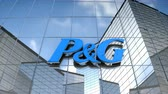 Editorial use only, 3D animation, P&G logo on glass building. 무비클립