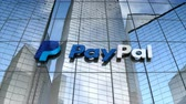 July 2017, Editorial use only, Paypal logo on glass building. 무비클립