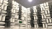защита : Computer generated, Sound proof room, anechoic chamber.