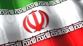 свобода : 3D flag, Iran, waving, ripple, Asia. Стоковые видеозаписи