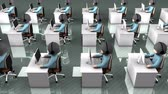 call centre : Call center concept animation, assistance, helpdesk, information.