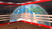 технология : Virtual broadcasting set, internet, TV, stage, background. Стоковые видеозаписи