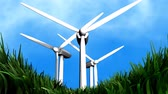 ambiental : Wind energy background animation, electricity, energy.
