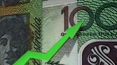 banks : Australian dollar currency value up animation.
