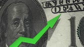 dólar : Dollar currency value up, increase, positive.