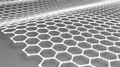 atomik : Atomic-scale honeycomb carbon atom, worlds strongest material, Graphene. Stok Video