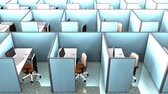 kočky : Office cubicles, interior, building, partition, space, work.