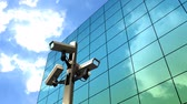 プライバシー : Public surveillance camera, cctv, monitor, police, state, authority. 動画素材
