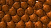埋める : Basketballs ball animation filling up spaces. matte included.
