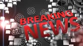 gazetecilik : Breaking news concept animation, latest, hot, important.