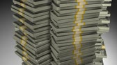 dollar : Stacks of money growth, dollar, success. Stock Footage