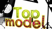 audition : Top model in studio, concept animation, photo, set, equipment, model.