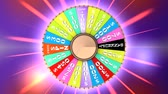 flor de la vida : Computer generated, Famous TV gameshow wheel. Archivo de Video