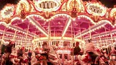 yuvarlak : Looping time lapse shot of a merry-go-round at night