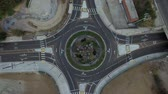 kruhový : Top view rise over roundabout circle street in Los Angeles, CA