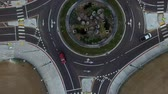 dairesel : Top view over round about intersection in Los Angeles, CA