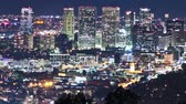 Голливуд : Time lapse shot above Beverly Hills at night