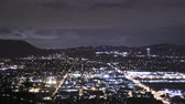 burbank : Slow tilt time lapse shot revealing moving city at night Stock Footage