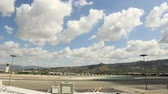 burbank : Time lapse clip of commercial airliners leaving and arriving at airport gates Stock Footage