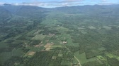 панорама : Aerial view of mountains and valleys in the southern Philippines Seen from an airplane window above Bukidnon mountains