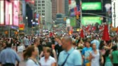 outdoors : Unrecognizable Crowd, Time Square, New York Stock Footage