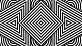 opções : Hypnotic rhythmic movement of geometric black and white shapes Stock Footage